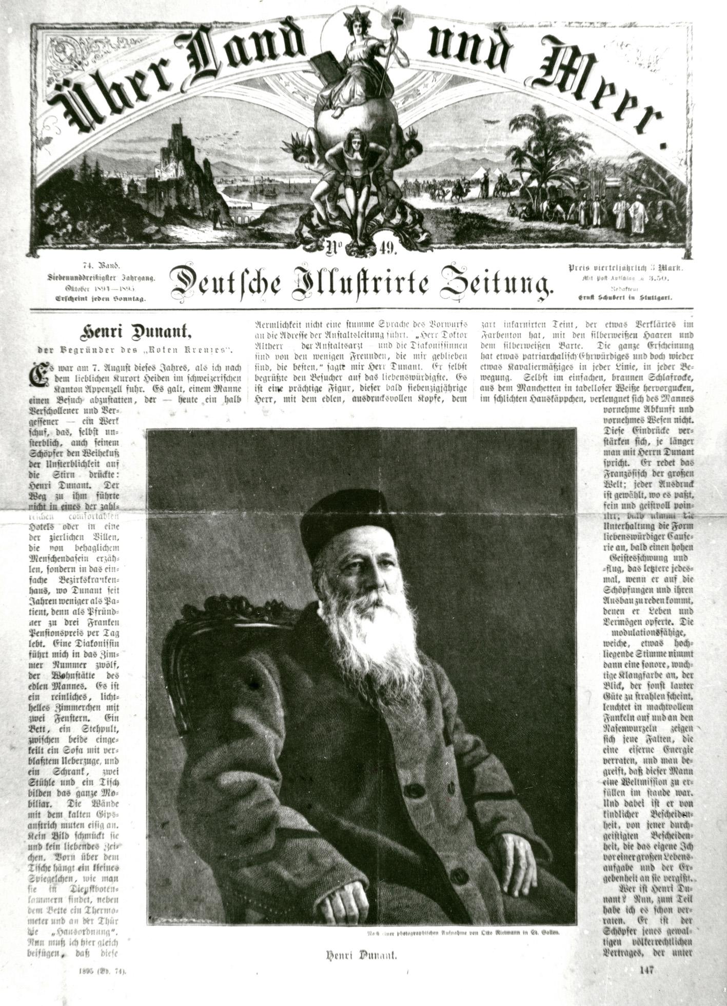 Artikel in der Deutschen Illustrierten Zeitung